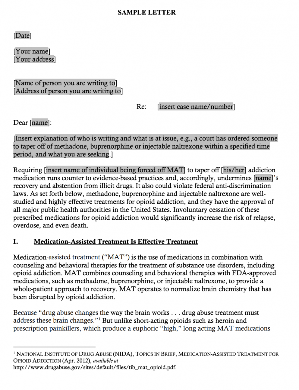 Legal Action Center  Sample Letters to Court or Probation Advocating Throughout Letter To Judge Template